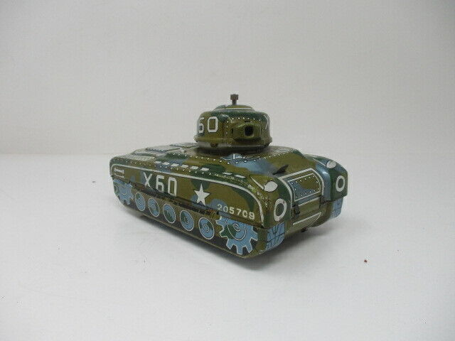 Vintage Wind-Up Mechanical Mystery Action X60 Super Tank
