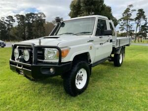 2008 Toyota Landcruiser VDJ79R Workmate (4x4) White 5 Speed Manual Cab Chassis Clayton Monash Area Preview