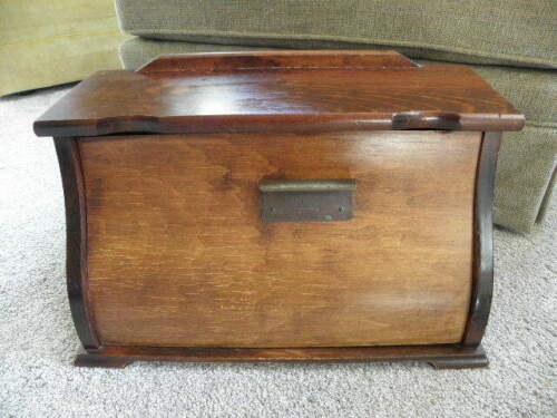 Vintage Wood Bread Box Rustic Country Hand Crafted Bent Wood