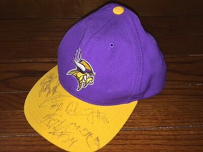Multi-signed Minnesota Vikings baseball cap hat football NFL 2006 team COA