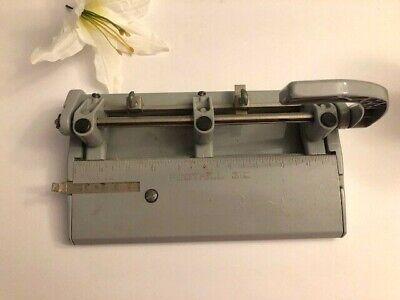 Vintage 3 Hole Punch Foothill Workshop Professional Gray Model 310