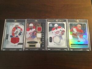 4 Cartes de hockey Upper Deck hockey cards