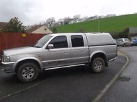 Ford Ranger 04 Silver XLT Thunder. Leather Seats 4WD CD Player, Chrome finish, Tow Bar, Rear Canopy