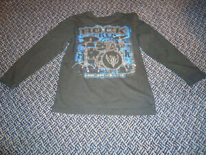 Boys Size 7/8 Long Sleeve ROCK T-Shirt by **Children's Place***