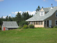 August stay at Cape Breton farmhouse, help paint it, get paid.