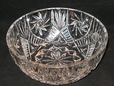(Bohemia Czech Republic Heavy Lead Crystal Fruit Bowl Over 24% PBO w Tag)