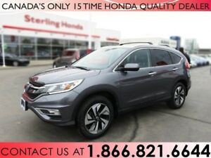 2015 Honda CR-V TOURING AWD   1 OWNER   LOW KM'S   ALL WEATHER M