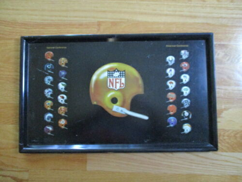 60s NFC AFC Football Serving Tray GREEN BAY PACKERS 49ers NEW ENGLAND PATRIOTS