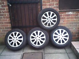 vauxhall 16 inc alloy wheels with tyres