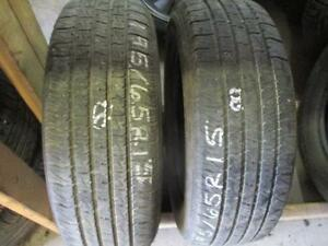 195/65R15 SET OF 4 USED MOTOMASTER A/S TIRES