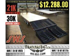 *HD* 21K GOOSENECKS STARTING AT $12,288 up to 30K GVWR Available