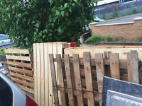 Approx 7 pallets - free