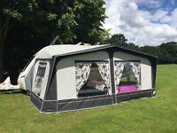 Dorema Dayton Caravan Awning, Size 11 900-925cm, Fibreglass Poles, Excellent Condition