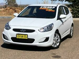 2018 Hyundai Accent RB6 MY18 Sport White 6 Speed Sports Automatic Sedan Hillvue Tamworth City Preview