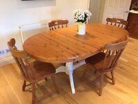 Large Double Pedestal Pine Table