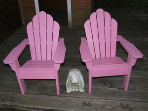 Pottery barn pink Adirondack chairs for kids NEW