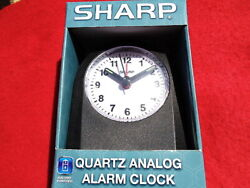 BATTERY OPERATED, QUARTZ-ANALOG DESK ALARM CLOCK, WITH GLOW IN THE DARK HAND'S