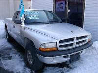 2002 DODGE DAKOTA SPORT !!! 4X4 !!! ONLY $1999.00 !!!