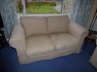 2 X 2 SEATER BEIGE SOFAS FOR SALE