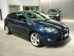 2011 Ford Focus LW Titanium PwrShift Blue 6 Speed Sports Automatic Dual Clutch Hatchback Grovedale Geelong City Preview