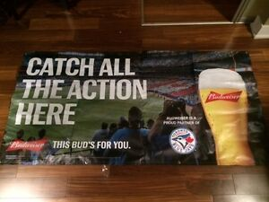 BUDWEISER BEER BLUE JAYS ADVERTISING BANNER! $45