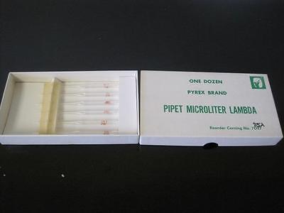 Box Of 6 Unused Pyrex Pipet Microliter Lambda 75h Super Rare 75 T Glass Lab 7097