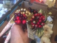 Boxes and Boxes of Tree Decorations Starting at 50p - Lights Wreaths Etc - All Going For Cheap