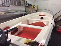 Falco 14ft fiberglass fishing and day boat