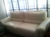 $800 or best offer LEATHER SOFA, CHAIR, OTTOMAN