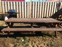 8' wooden picnic table