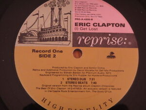 "A2 12"" vinyl record ERIC CLAPTON USA PROMO LABEL GET LOST David Morales mixes - Italia - A2 12"" vinyl record ERIC CLAPTON USA PROMO LABEL GET LOST David Morales mixes - Italia"