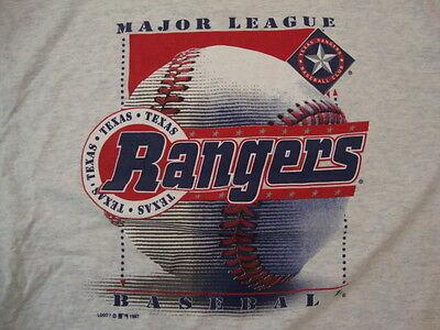 Vintage MLB Texas Rangers Baseball Logo 7 Sports Fan Apparel T Shirt Size 2XL