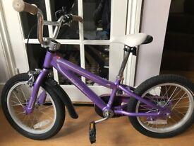 GIRL 14' Wheel Specialised Purple Bike