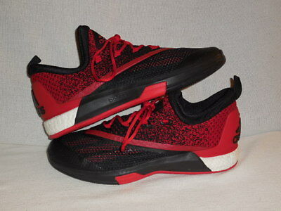 398a2d4c7da6fc Adidas Men s SM On Court Crazylight Boost 2 Black Scarlet Black -MEN S 14