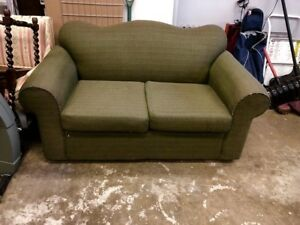 Olive Green Loveseat Couch