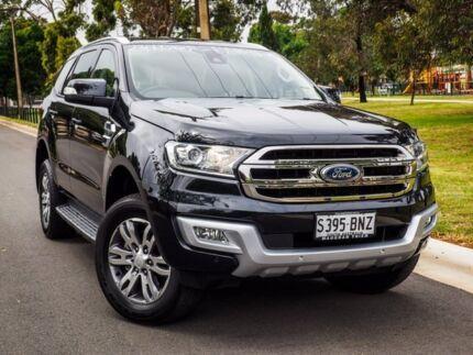 2016 Ford Everest UA Trend 4WD Jet Black 6 Speed Sports Automatic Wagon