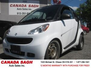 2011 smart fortwo,ONLY 46K, AC, CLEAN CARPROOF, 12 M WRTY+SAFETY