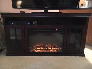 SW Estate, TV Stand with Electric Fireplace Combo