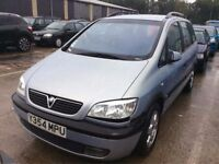 2001 VAUXHALL ZAFIRA 1.8 PETROL MANUAL 7 SEATER MOT EXCELLENT DRIVE MPV SPACIOUS NOT SCENIC GALAXY
