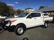 2013 Mazda BT-50 MY13 XT (4x4) White 6 Speed Manual DUAL C/CHAS UTE Newcastle 2300 Newcastle Area Preview