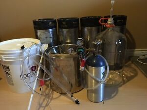 Beer making equipment, beer tap, kegging system, Kegs
