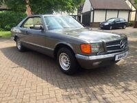 Mercedes 500sec 126C pillarless coupe V8 bullet proof engine