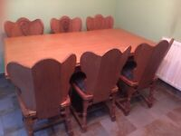 Antique Dining Table Plus 6 Chairs