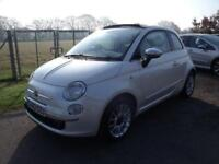 FIAT 500 C LOUNGE - CONVERTIBLE - White Manual Petrol, 2013