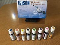 PME Airbrush & Compressor + 8 Colours