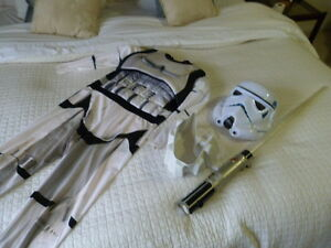 Size 10 Storm Trooper Costume - Star Wars! With LightSaber!