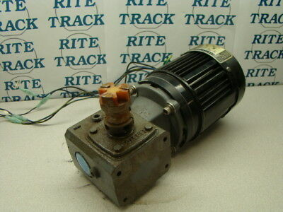 Bodine Electric 42r3bfsi Motor W Boston Gear F710b-5x-b4-g Reducer