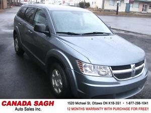 2010 Dodge Journey 7 PASS. CLEAN 106km, 12M.WRTY+SAFETY $7990