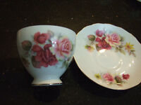 different bone china sauce and tea cup from England