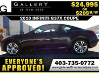 2010 Infiniti G37x AWD $209 bi-weekly APPLY TODAY DRIVE TODAY